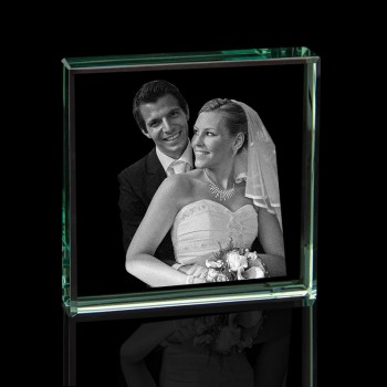 Jade 2D Glass Crystal Photo Etching (Square)