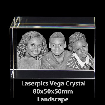 3D Vega Photo Crystal Landscape (80 x 50 x 50mm)