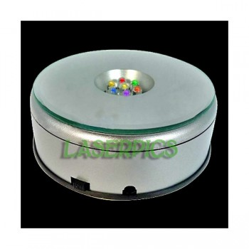 Rotating LED Light Base for Crystal